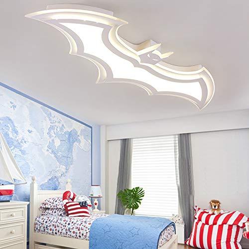 Luminaire Moderne Dimmable Plafond Batman Design 95Cm LED Lampe De Plafond En Blanc Pour Les Garçons Chambre, Chambre Enfants, Enfants Chambre