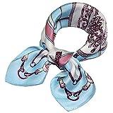 HX fashion Pequeño gusano de seda Primavera y otoño Dama Profesional Basic Pequeña bufanda cuadrada pequeña Ropa (Color : 1, Size : One Size)