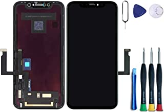 Premium Screen Replacement Compatible with iPhone XR Screen Replacement 6.1 inch (Model A1984, A2105, A2106, A2108) Touch Screen Display digitizer Repair kit Assembly with Complete Repair Tools.