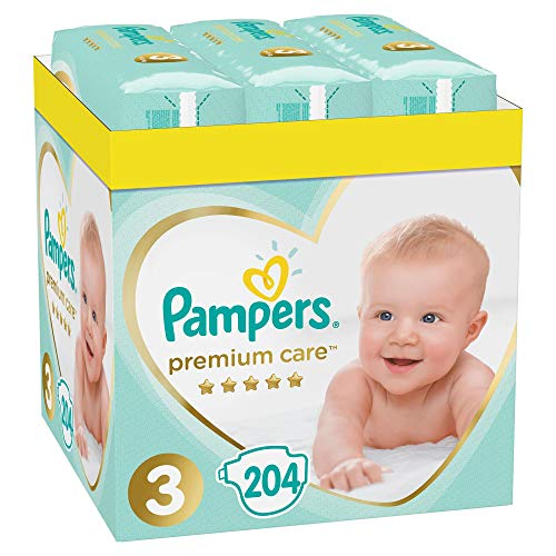 Baby Windeln Premium Care 3, Größe 3, Baby Windel 3, 5-9kg, Doppelpack, 408 Stück