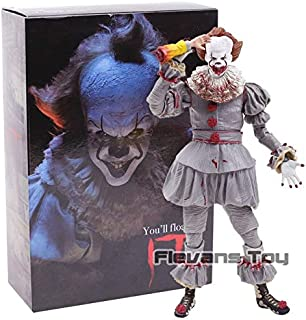 WOIA 2017 Stephen King's It The Clown Pennywise PVC Action Figure Horror Collection Model Movable Figurine Toy Must Have Tools Favourite Movie Superhero Cake Topper UNbox Me