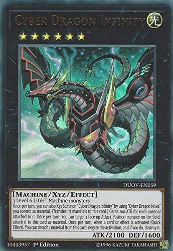 Cyber Dragon Infinity (alternate art) - DUOV-EN059 - Ultra Rare - 1st Edition