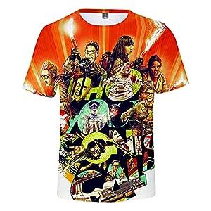 CYANDJ-Ghostbusters-T-Shirt à Manches Courtes Imprimé en 3D pour Enfants, Polo De Loisirs pour Enfants D'éTé, T-Shirt De Plage à SéChage Rapide Imprimé Unisexe-120