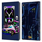 Head Case Designs Officially Licensed Back to The Future Delorean and Flux Capacitor I Composed Art Leather Book Wallet Case Cover Compatible with Samsung Galaxy Tab S6 Lite