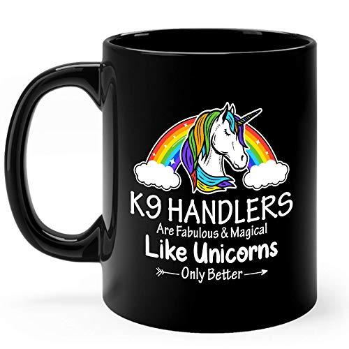 K9 Handler Mug Gifts 11oz Black Ceramic Coffee Cup - K9 Handler Fabulous Mug