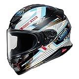 Shoei RF-1400 Helmet - Arcane (X-Small) (White/Black/Light Blue)
