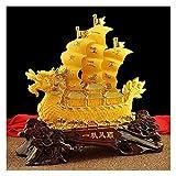 Oficina casa mesa feng shui decoración Figuras fengshui kylin riqueza prosperidad estatua afortunado decoración apertura regalos feng shui chino zodiaco resina de oro estatuillas coleccionables decora