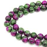 jartc Perline per Braccialetti Energetico Braccialetto Yoga Braccialetto Fai da Te Perle di Pietra Epidoto 95 Pezzi, 34CM,4 mm