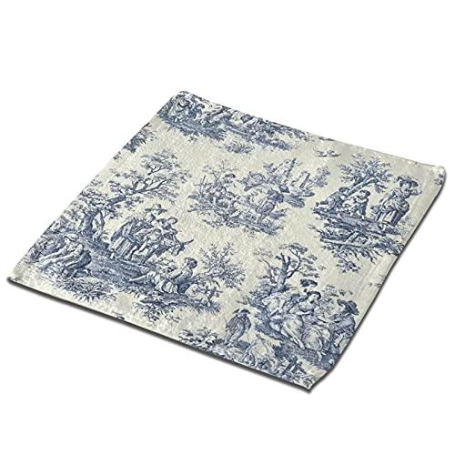 Toile De Jouy Toallas de mano para el hogar, toallas pequeñas de cocina, toallas de bebé, toallas cuadradas, suaves, absorbentes, juego de 2 piezas de 12.9 pulgadas