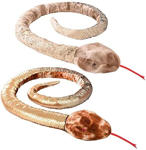 Adventure Planet Max 78% OFF 102 Inch Natural per Los Angeles Mall Snake Sequins One Order