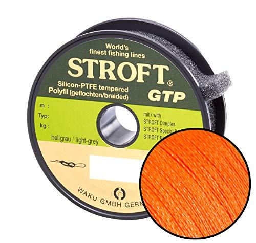 Schnur STROFT GTP Typ R Geflochtene 100m orange, R2-0.180mm-5.5kg