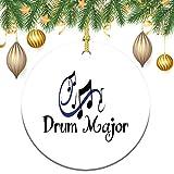 3 Inch Christmas Ornament, Drum Major Xmas Ornaments, Keepsake Gift Memorial Peace & Happiness Christmas Decorations