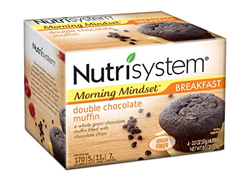 Nutrisystem Morning Mindset Double Chocolate Muffin, 8 Pack