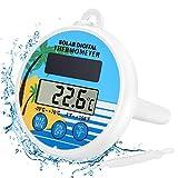 Gafild Digital Flotante Solar Piscina Termómetro, Termómetro de Piscina Floating Pool Thermometer para Todo Uso en Piscina spas, Jacuzzis, Acuarios y Peces estanques