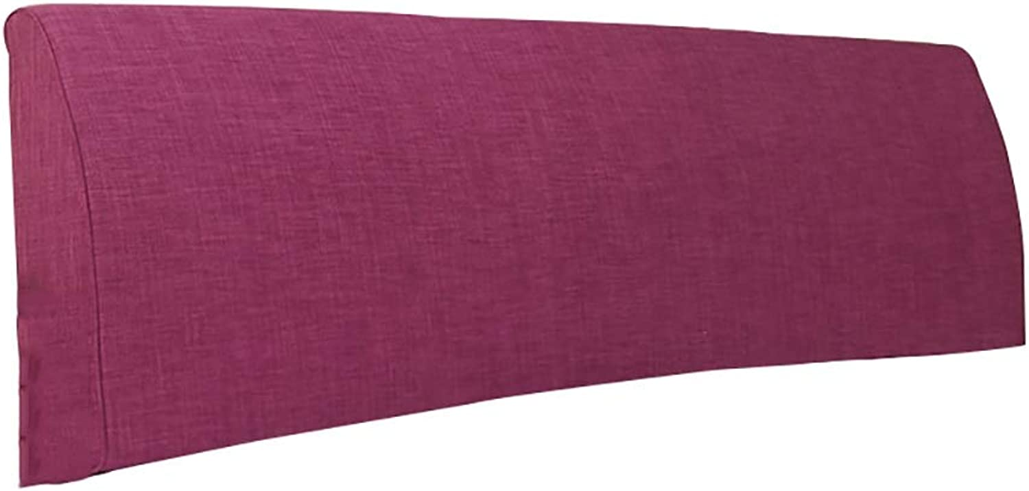 LXLIGHTS Headboard Bedside Cushion Upholstered Bed Wedge Backrest Waist Pad Bay Window Sofa Pillows, 7 colors, 5 Sizes (color   Red, Size   No headboard-120cm)