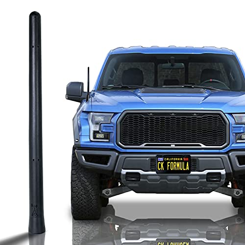 "CK FORMULA Bending Truck Antenna, 7"" Black Automotive Antenna Replacement, AM/FM Radio Compatibility, Internal Copper Coil, Anti Theft Design, Car Wash Safe, Universal Fit, 1 Piece"