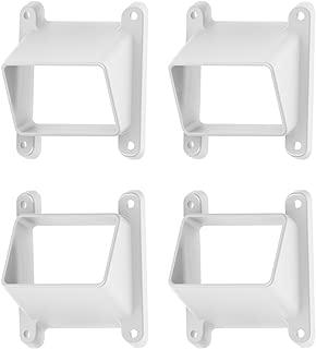 YardSmart 73024867 Select Stair Bracket Vinyl Railing, White