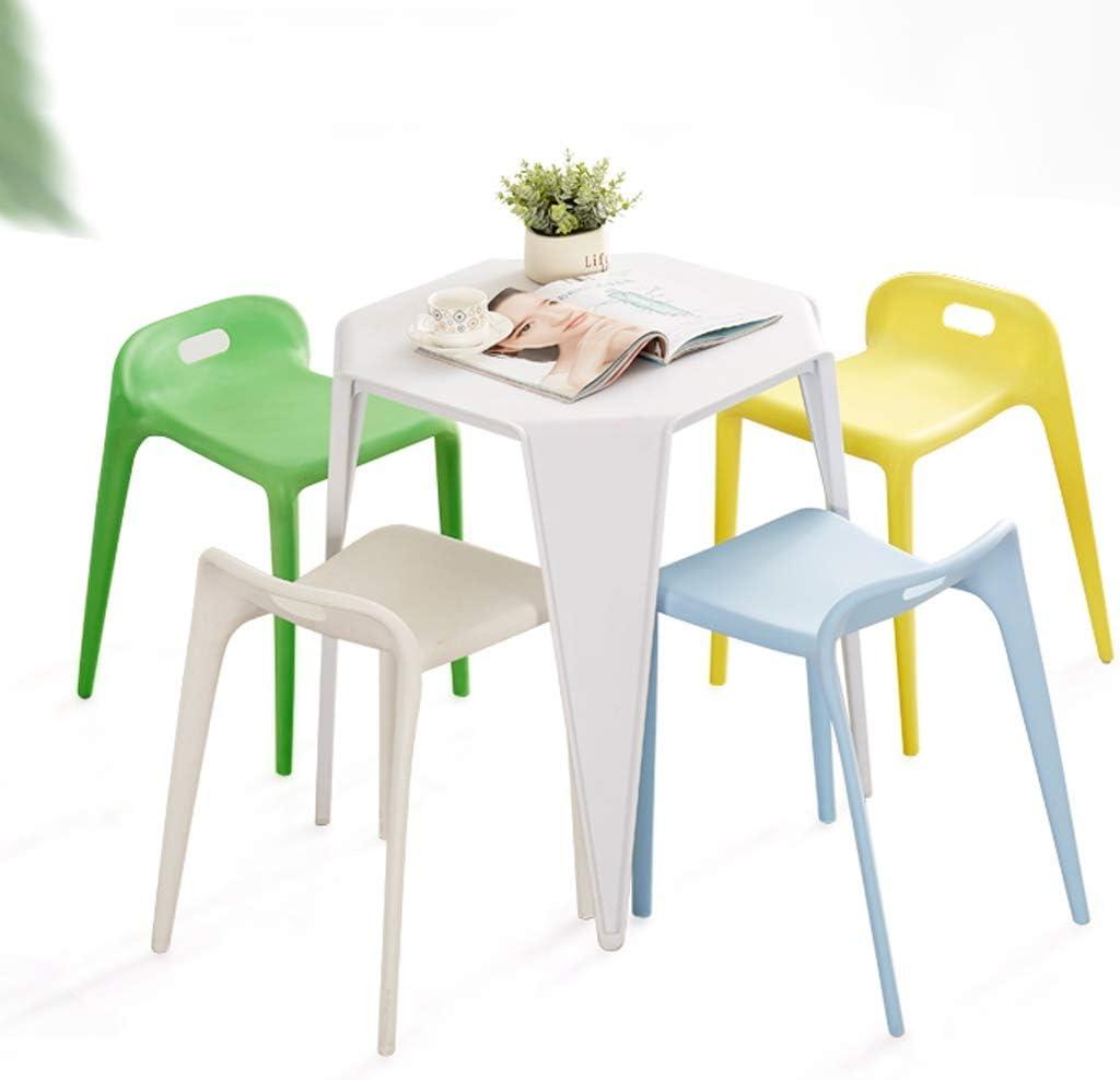SLL- Chaise de Salle, Chaise de Bureau Simple, créative Dossier, Chaise Loisirs, Maison Adulte Chaise de Salle Moderne (Color : Red) White