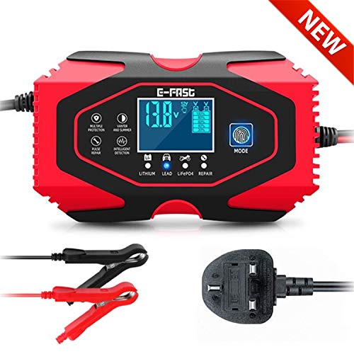 Coldspot Car Battery Charger, 12V/6A 24V/3A Smart Automatic Lead Acid Lithium Battery...