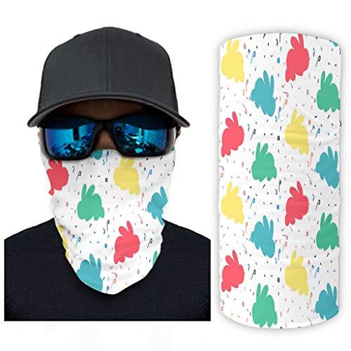 VVXXMO Mascarillas faciales multifuncionales 12 en 1, polaina para cuello, polvo, al aire libre, festivales, deportes