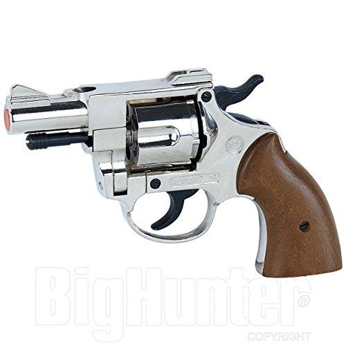 Revolver - pistola giocattolo a salve Olympic nikel bruni scacciacani calibro 380 a salve