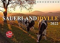 Sauerland-Idylle (Tischkalender 2022 DIN A5 quer): Laendliche Idylle im Sauerland (Geburtstagskalender, 14 Seiten )
