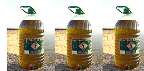 Aceite de oliva virgen extra - 3 garrafas pet 5 l - Los Cerros de Úbeda