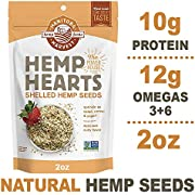 Manitoba Harvest Hemp Hearts Raw Shelled Hemp Seeds, 2oz (Pack of 12); with 10g Protein & 12g Omegas per Serving, Non-GMO, Gluten Free