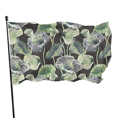 Hao-shop Aquarel Lotus Leafbright Kleur Banner decoratief interieurdecoratie Banner