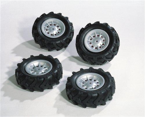 Rolly Toys Luft-Reifen für Kinderfahrzeuge (4 Stück, silberne Felgen, 310x95 mm) 409181