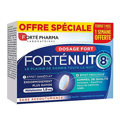 Forté Pharma Forté Nuit 8h Complément Alimentaire Sommeil 30 Comprimés