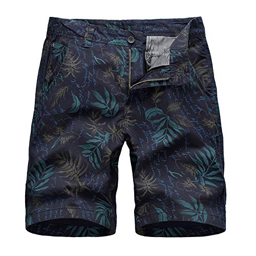 XIEPEI Straight Casual Shorts Hommes Loose Plus Size Cotton Five-Point Pants