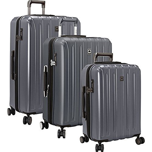 DELSEY Paris Titanium Hardside Expandable Luggage with Spinner Wheels, Graphite, 3-Piece Set (19/25/29)