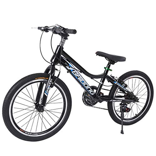 LBBL Teens Hardtail Mountain Bike for Boys, Stone Mountain 20 inch 7-Speed Bicycle Steel Frame BMX Bike Teens Hardtail Mountain Bike for Boys, Stone Mountain 20 inch 7-Speed Bicycle