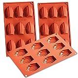 Stampi in Silicone per Madeleine - NALCY 3 Pezzi in Silicone Madeleine teglia da Forno a Forma di Conchiglia teglia da Forno a Forma di teglie 9 tazze con Rivestimento Antiaderente