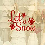 Njuxcnhg Flocon De Neige Let It Snow Noël Maison Salon Fenêtre Décoratif Sticker Art Noël Décor Sticker Mural Chambre Murale 42X30CM