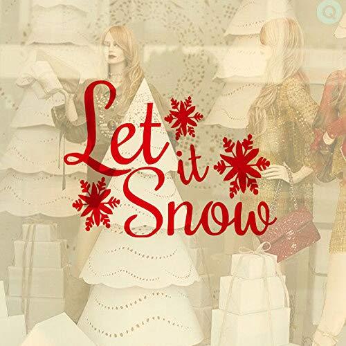 Sneeuwvlok maakt het sneeuw Kerstmis familie woonkamer raamdecoratie muurtattoo kunst Kerstdecoratie muursticker slaapkamer muurschildering 63x45cm
