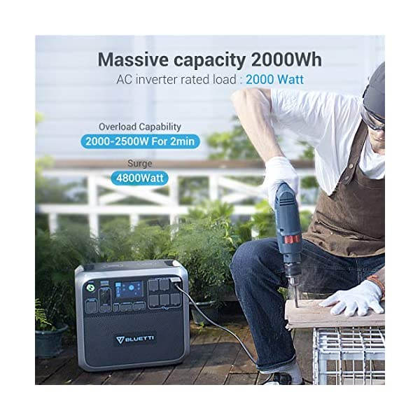 BLUETTI AC200P Portable Power Station with Solar Panel Included 2000W Solar Generator Kit with 3pcs 200W Foldable Solar…