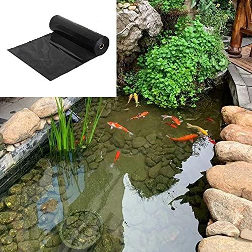 Forro para Estanque 0.5mm Revestimiento para Estanques 4x4m Large Fish Pond Liner Gardens Piscinas Membrana Reforzada Paisajismo/Negro/Tamaño Personalizable