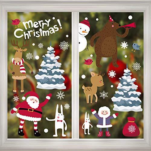 Christmas Window Gel Cling Sticker Decals