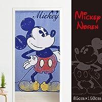 メール便送料無料 のれん ミッキー3 約85×150cm ブルー みんな大好きミッキーのれん ディズニー Disney mickey タペストリー おしゃれ ミッキーマウス