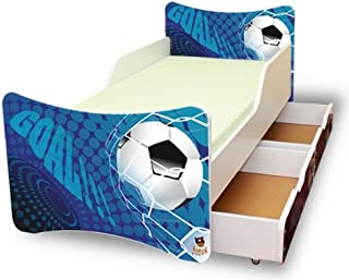 Best For Kids Chilldren s Bed with foam mattress with T V CERTIFIED 90x200 WITH TWO DRAWERS DESIGNS Goal