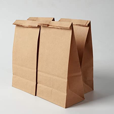 Snack Gaoyong 60 Pieces Brown Paper Bags 15 * 9 * 27cm 70 g.//m2 with 100/% Pure Kraft Paper for Grocery Lunch Birthday Xmas Party Supplier and Wedding