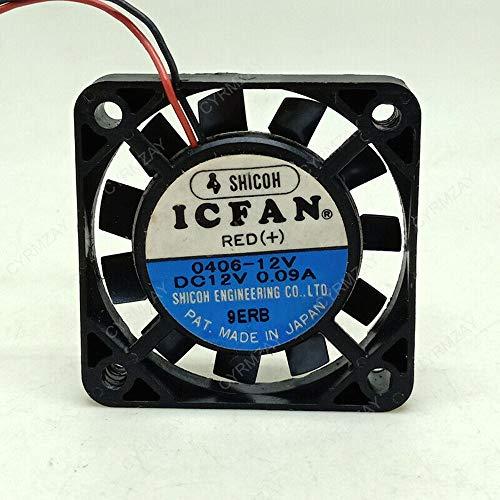 CYRMZAY Ventilador Compatible para SHICOH ICFAN 0406-12V 12V 0.09A