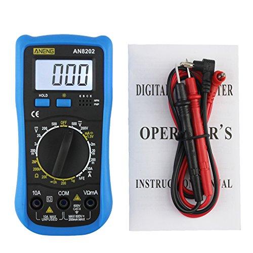 ZChun AN8202 - Multímetro Digital con Pantalla LCD (Corriente alterna, diodo de Voltaje, comprobador de frecuencia)