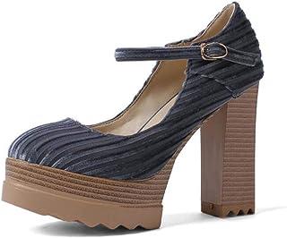 7b25b1cf52 SHINIK Plataforma de Moda para Mujer Sandalias 2019 Primavera Nueva Super  tacón Alto Bomba Hebilla Zapatos