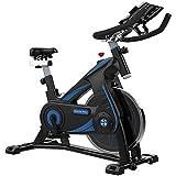 ZCYXQR Bicicletas estáticas Bicicleta estática Correa de transmisión Infinity Resistance Asiento Ajustable para Entrenamiento Cardiovascular FitnessAnd Studio (Deporte de Interior)
