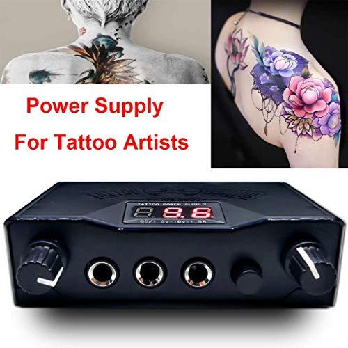 SHENG tatoeage-vermogensregelaar, LCD-leeuwenkop-secant-mist tijdens het dragen dual tone permanente make-up toolstekker zwart