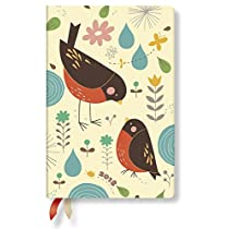 Paperblanks Dayplanners 2018 Mother Robin Mini Day-at-a-Time DE4166-5 英語版