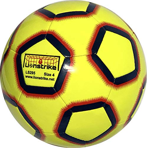 Lionstrike Size 4 Lite Football yellow Lightweight Training Football for Boys and Girls age 7 to 13 years old